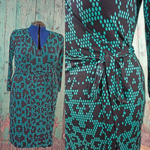 Banana Republic dot snake skin print wrap dress